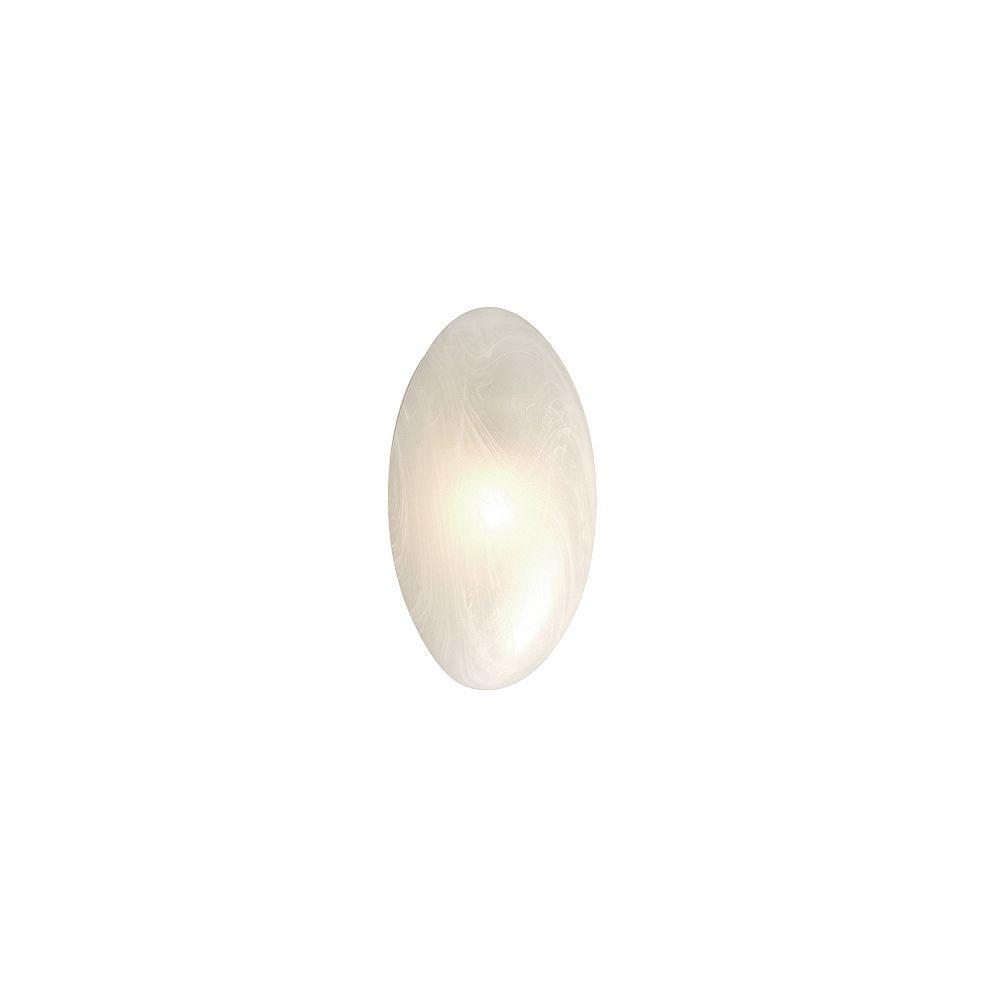 Hampton Bay Applique, une ampoule, diffuseur en verre marbré
