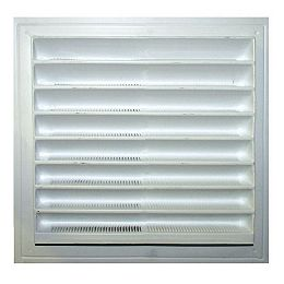 8-inch x 8-inch Plastic Wall Louver Static Vent in White