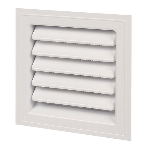12-inch x 12-inch Plastic Wall Louver Vent in White