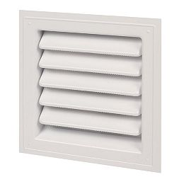 12-inch x 12-inch Plastic Wall Louver Static Vent in White