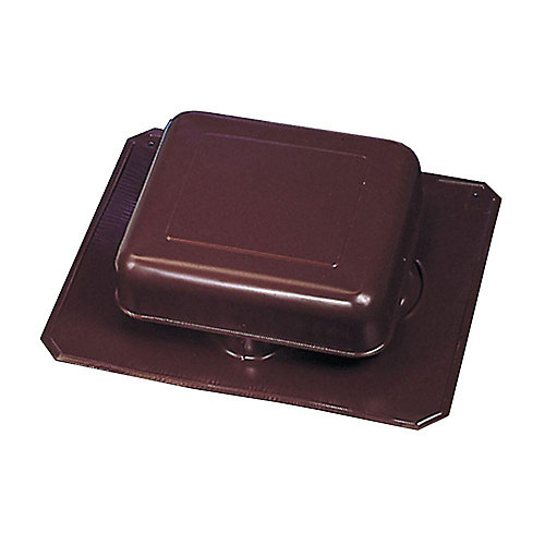 50 -inch NFA Aluminum Square-Top Roof Static Vent in Brown