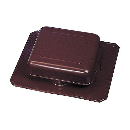 GAF Master Flow 50-inch NFA Aluminum Square-Top Roof Static Vent in Brown