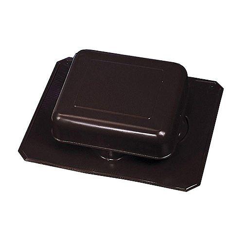 50-inch NFA Aluminum Square-Top Roof Static Vent in Black