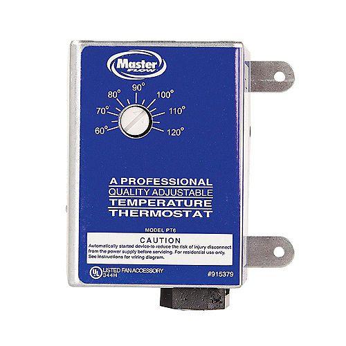 GAF Master Flow Thermostat à réglage manuel pour la ventilation