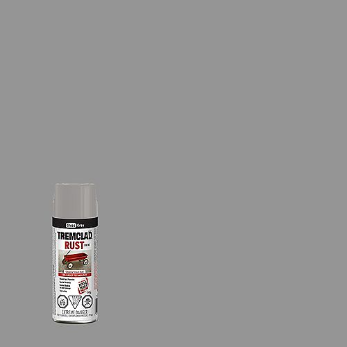TREMCLAD Oil-Based Rust Paint In Gloss Grey, 340 G Aerosol Spray Paint