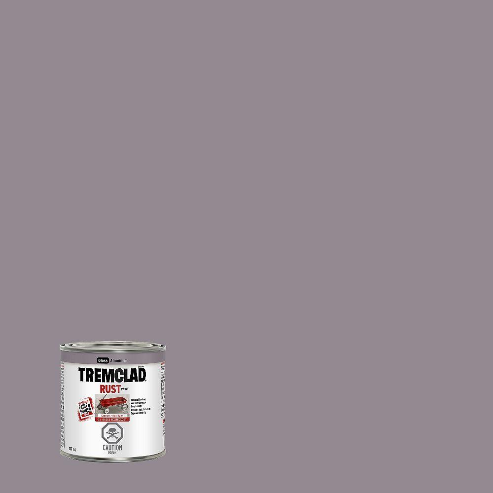 TREMCLAD Oil-Based Rust Paint In Gloss Aluminum, 237 mL