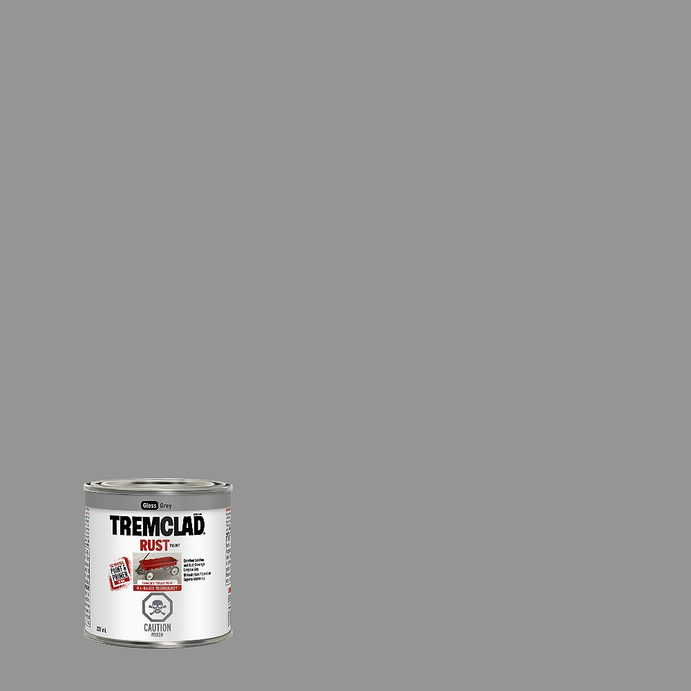 TREMCLAD Oil-Based Rust Paint In Gloss Grey, 237 mL