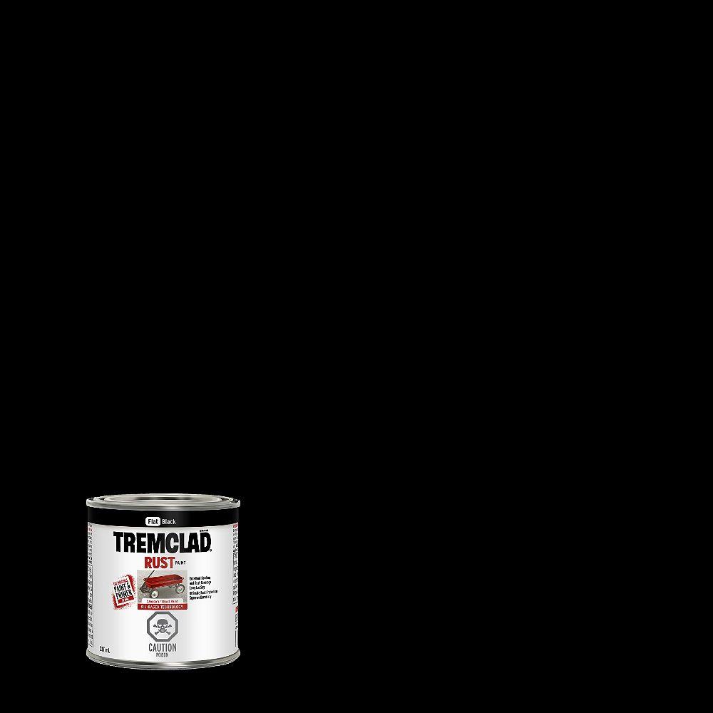 TREMCLAD Oil-Based Rust Paint In Flat Black, 237 mL