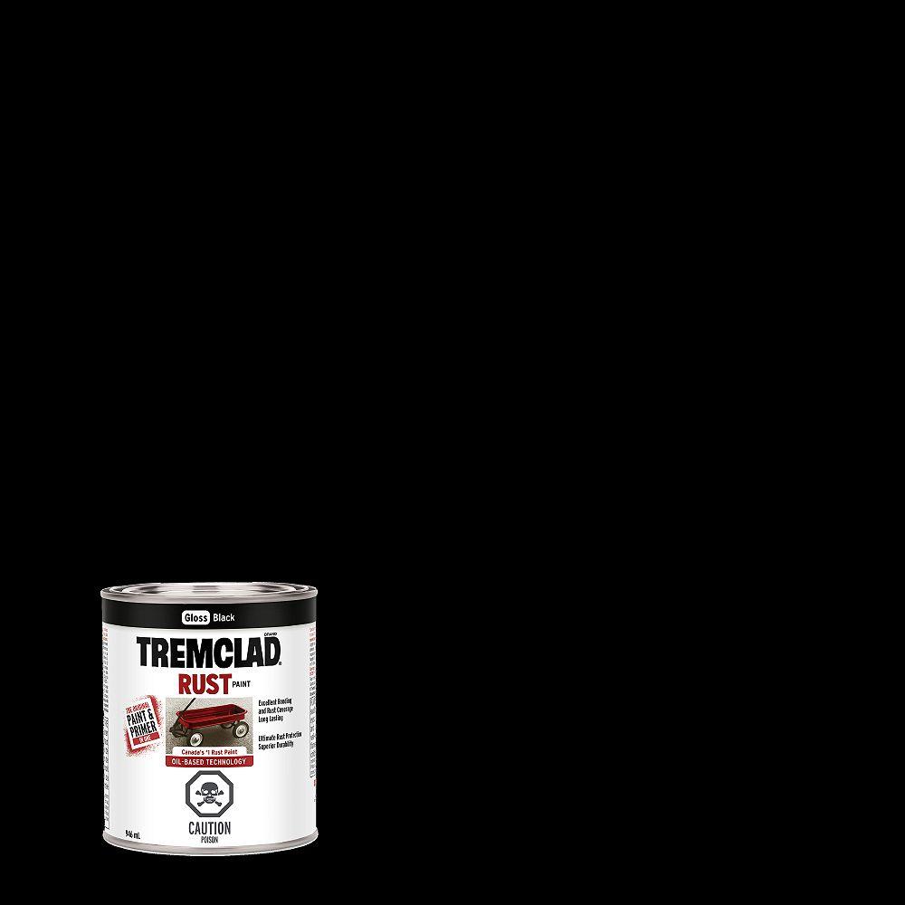TREMCLAD Oil-Based Rust Paint In Gloss Black, 946 mL
