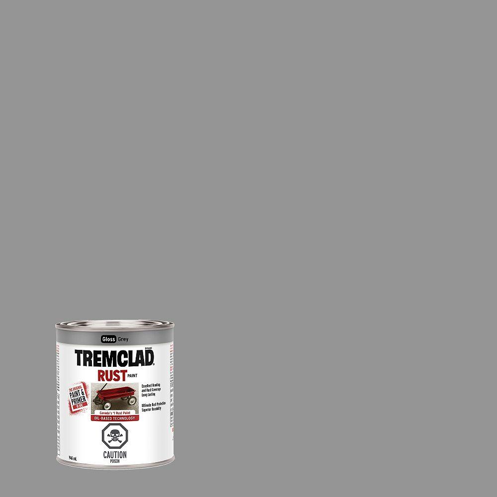TREMCLAD Peinture Antirouille À Base D'Huile En Gris Lustré - 946 mL