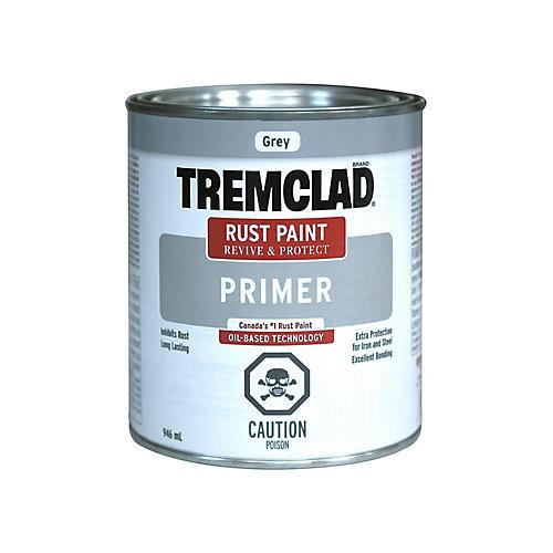 Oil-Based Rust Paint Primer In Galvanized Metal White, 946 mL