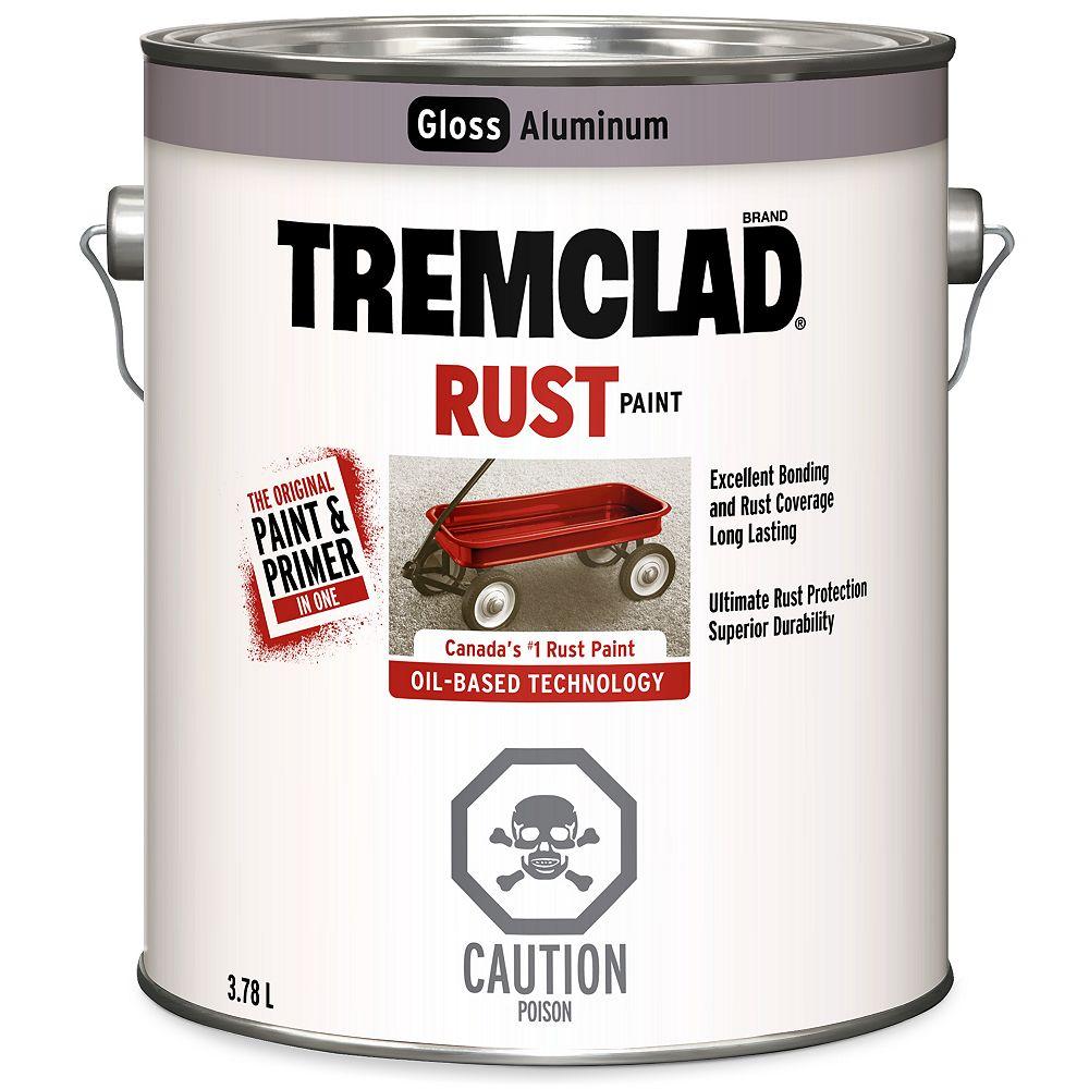 TREMCLAD Peinture Antirouille À Base D'Huile En Aluminium Lustré - 3.78 L