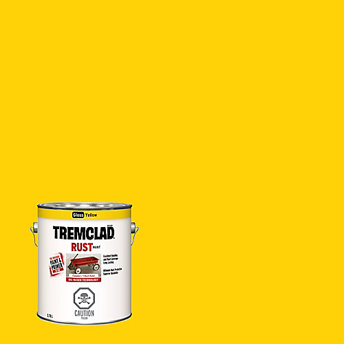 Oil-Based Rust Paint In Gloss Yellow, 3.78 L