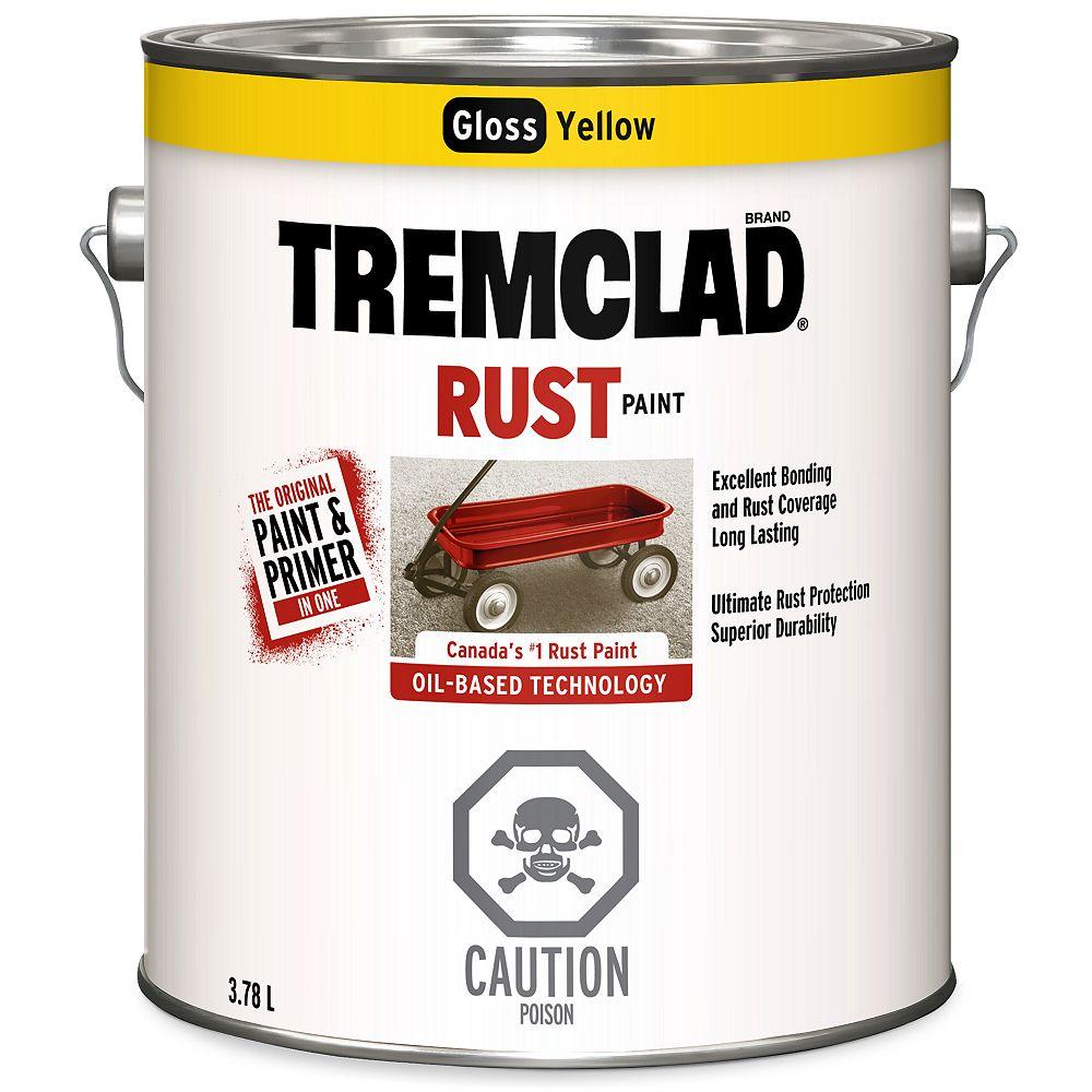 Tremclad Peinture Antirouille A Base D Huile En Jaune Lustre 3 78 L Home Depot Canada