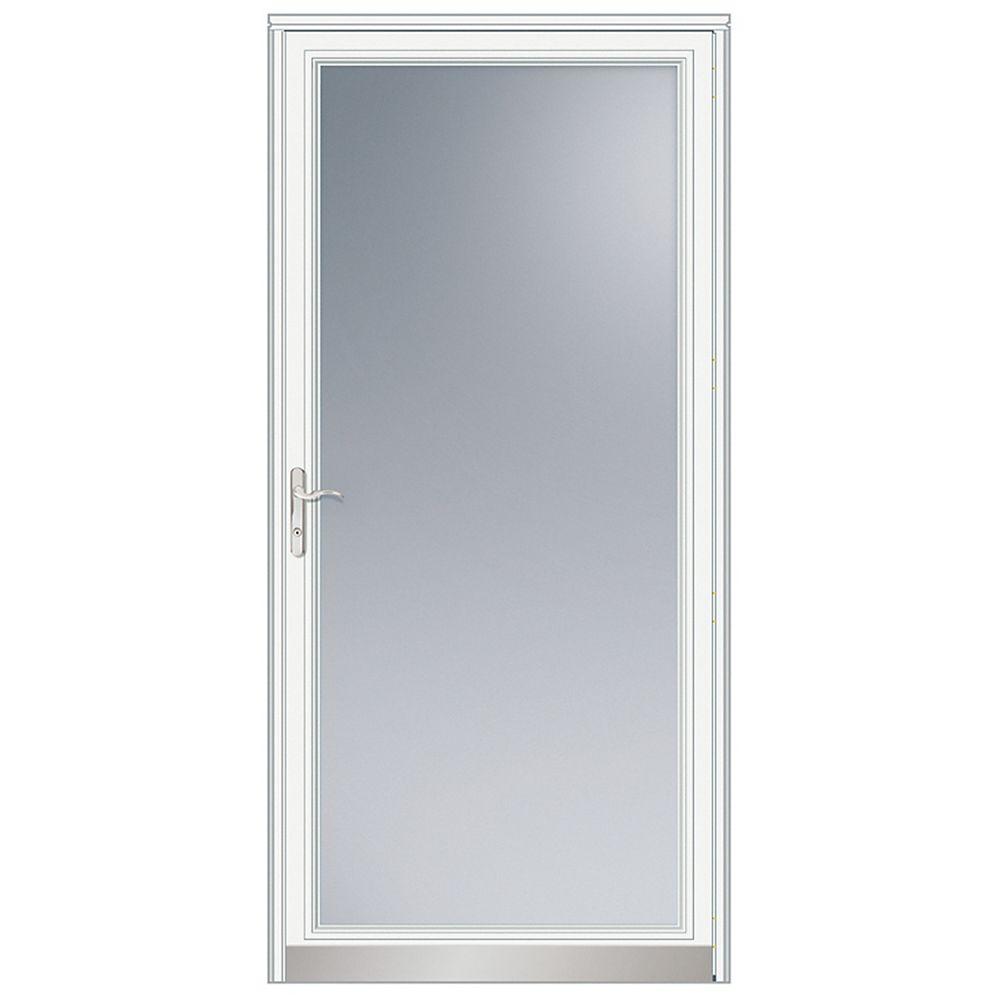 Andersen 36-inch W 3000 Series Fullview White Screen Door with Nickel Hardware