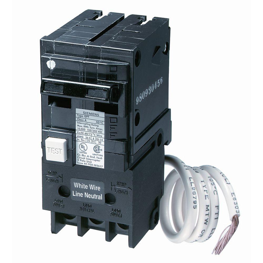 Siemens 40A 2 pôle 120V Siemens de type Q DDFT disjoncteur