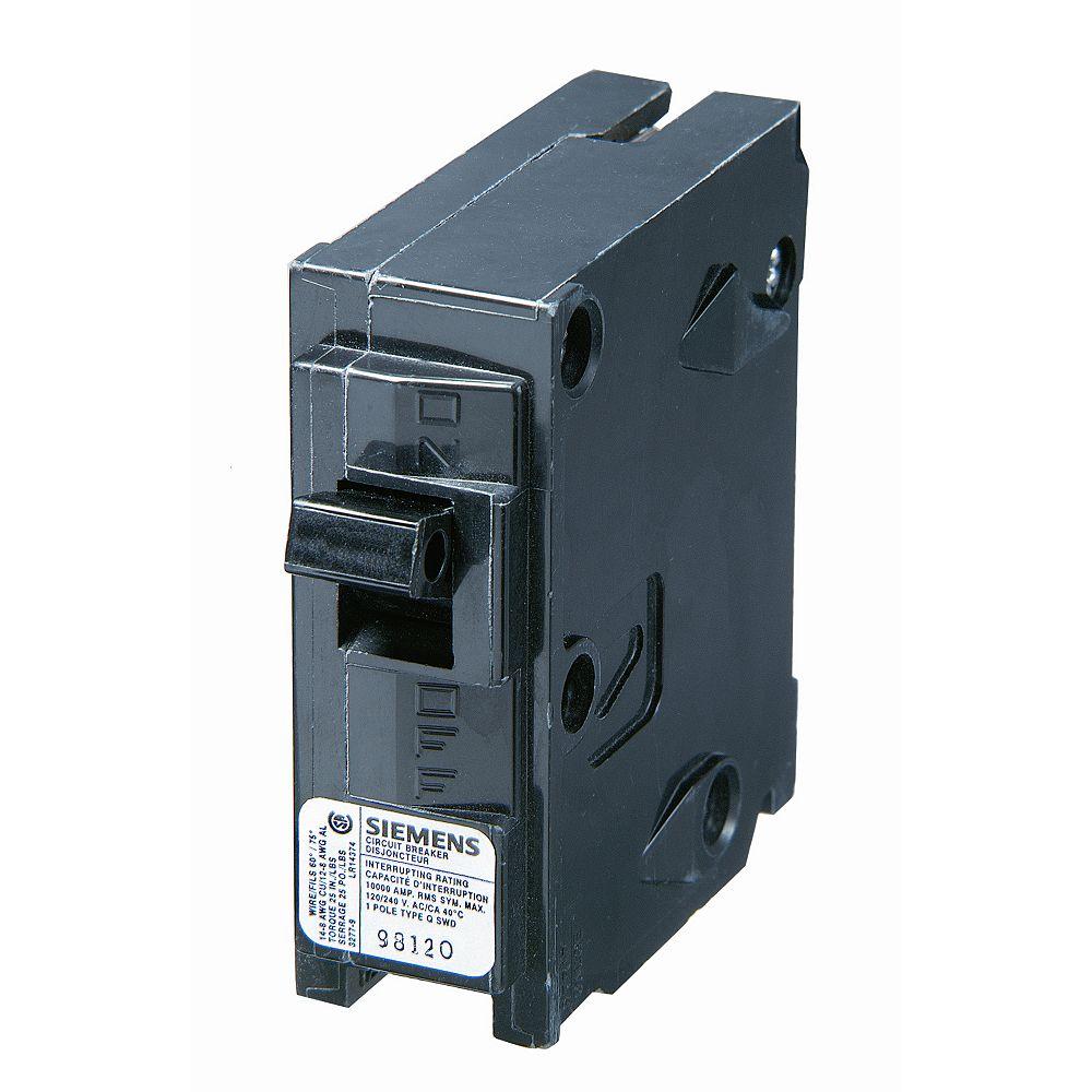 Siemens 30A 1 Pole 120V Type Q Breaker