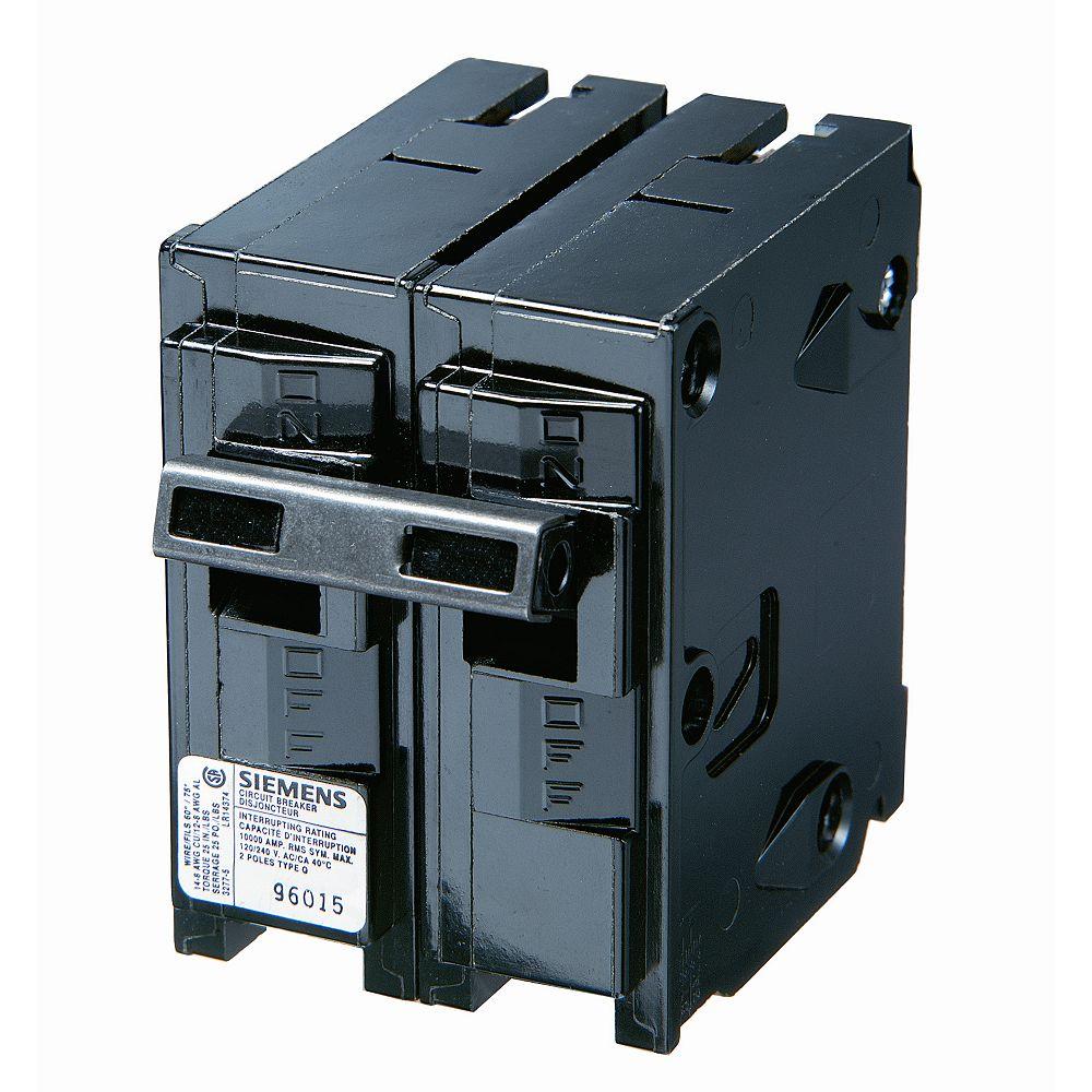 Siemens 15A 2 Pole 120/240V Type Q Breaker