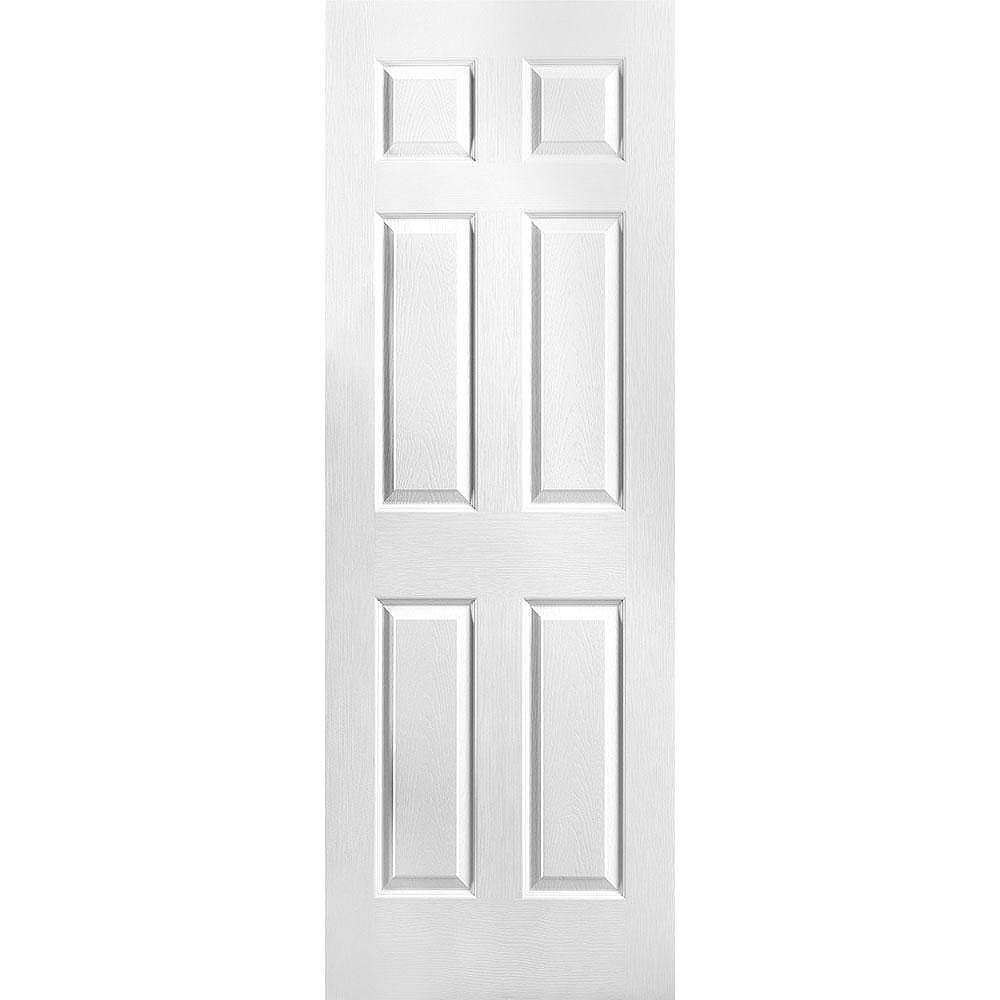 Masonite 28-inch x 78-inch 6 Panel Textured Door Slab