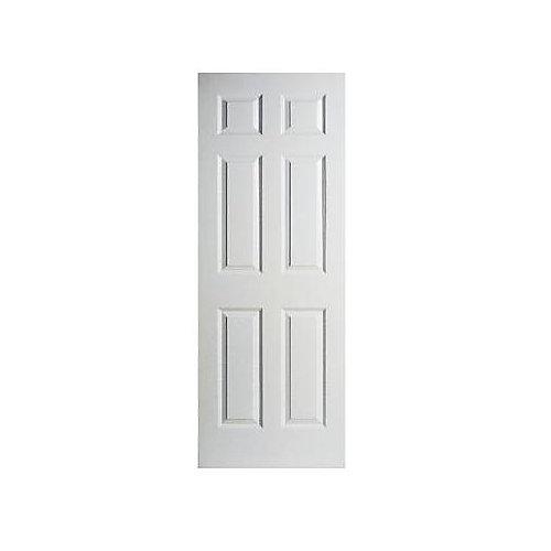 30-inch x 78-inch 6 Panel Textured Door Slab