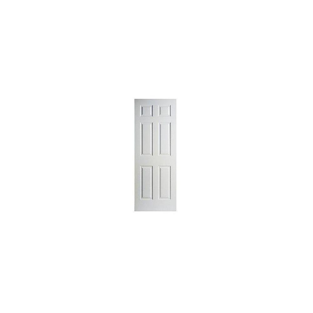 Masonite Porte unie texturée 6 panneaux 30 po x 78 po