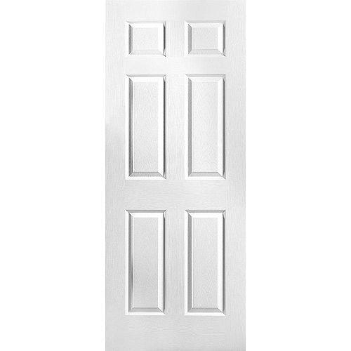Porte unie texturée 6 panneaux 32 po x 78 po