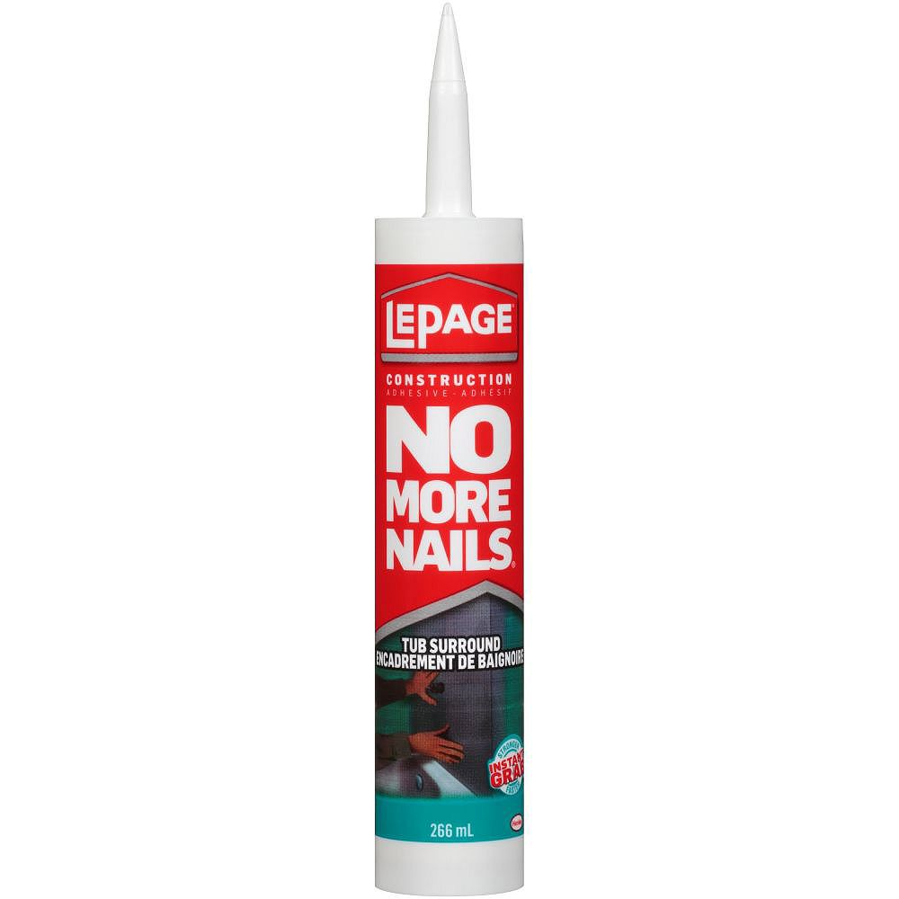 LePage No More Nails Adhésif pour Encadrements de Baignoire 266mL