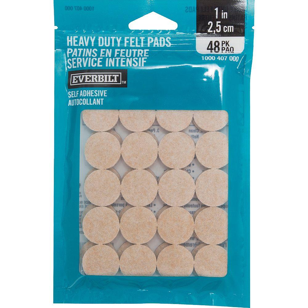 Everbilt 1-inch Heavy Duty Self-Adhesive Felt Pads (48 per Pack)