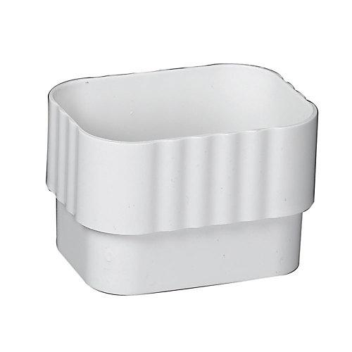 Connecteurs de tuyaux de descente traditionels vinyle blanc