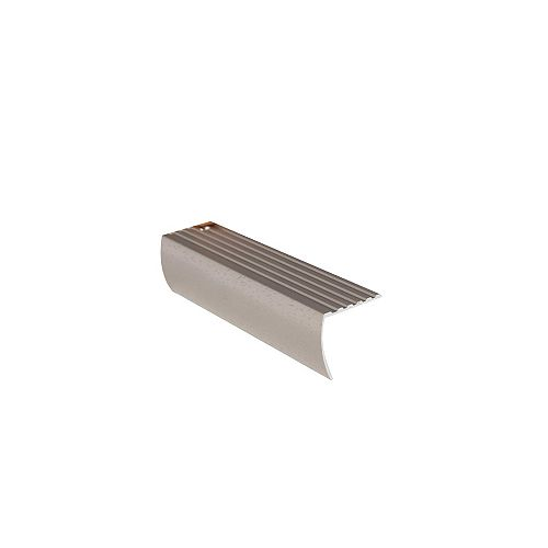 1-5/8 Inch Residential Stair Nosing - 12Ft - Hammered Titanium
