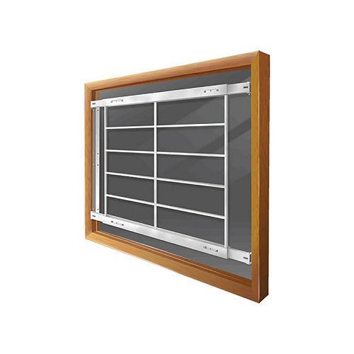 201 E 52-inch to 64-inch W Permanent Window Bar