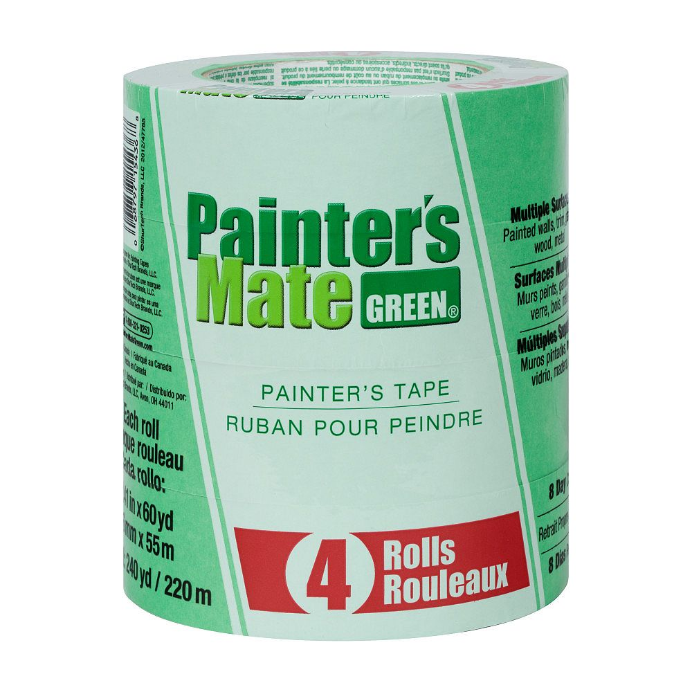 Painter's Mate Green 1.41-inch x 180 ft. Green Painter's Tape (4-Pack)
