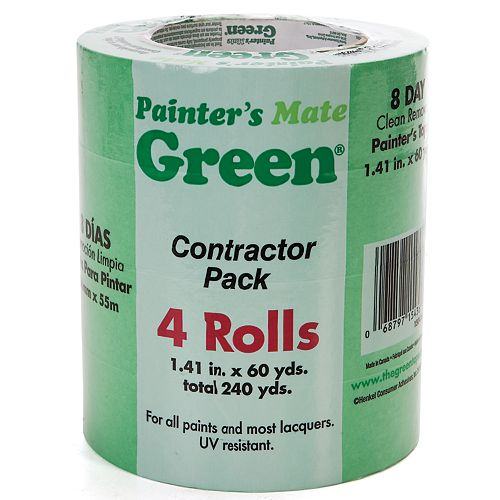 1.41-inch x 180 ft. Green Painter's Tape (4-Pack)