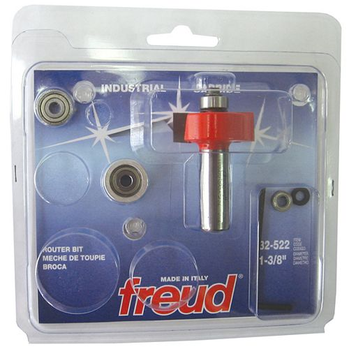 Freud 1/2-inch Shank Rabbeting Bit with Bearings Set