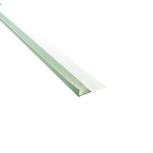 Garniture en métal à face papier, B4 1/2 po, forme L, 10 pi.