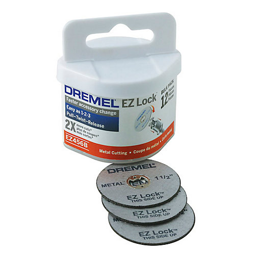 EZ Lock Cut-off Wheel Bulk Pack (12-Pack)