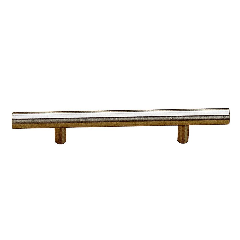 Richelieu Tivoli Collection 3 3/4 in (96 mm) Center-to-Center Brushed Stainless Steel Contemporary Cabinet Pull