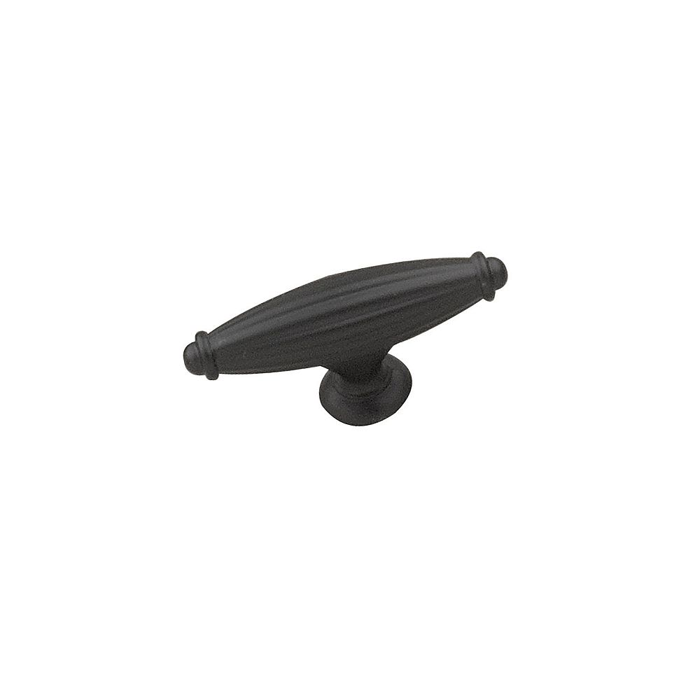 Richelieu Madeleine Collection 2 9/16 in (65 mm) x 3/4 in (20 mm) Matte Black Traditional Cabinet Knob
