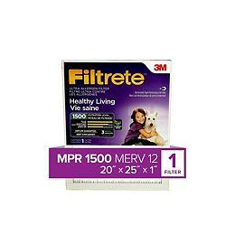 20-inch x 25-inch x 1-inch Healthy Living MPR 1500 Ultra Allergen Filtrete Furnace Filter