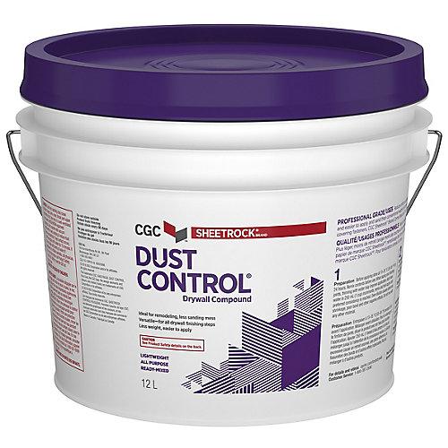 Composé de contrôle de la poussière pour cloison sèche, prêt à l'emploi, seau de 12 L
