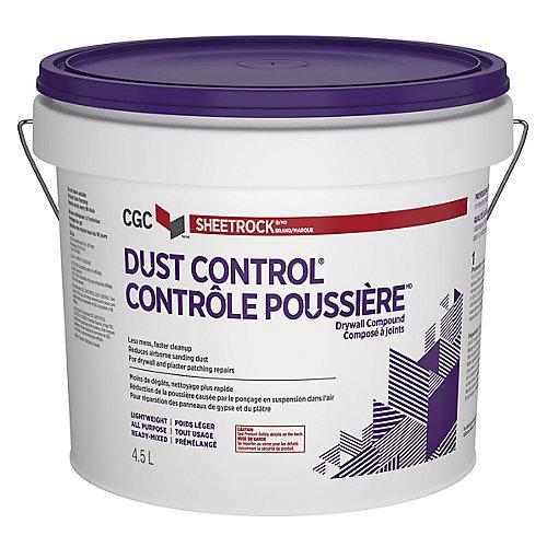 Composé pour cloisons sèches anti-poussière de la CCG, prêt à l'emploi, seau de 4,5 L