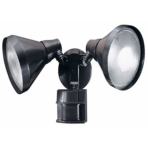 180 Degree Motion Sensing Security Light with Bulb Shields - Bronze
