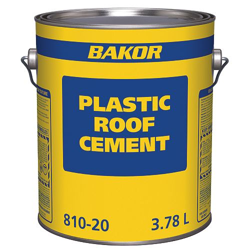 Bakor 810-20 Plastic Roofing Cement 3.78L