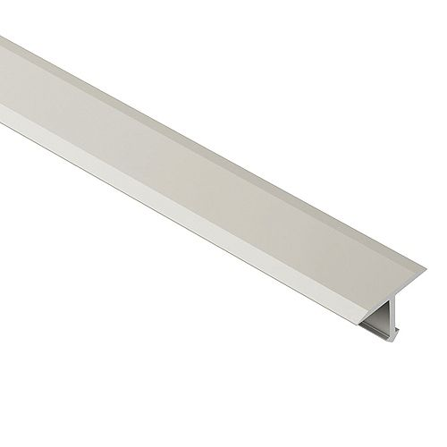 Reno-T Satin Nickel Anodized Aluminum 17/32-inch x 8 ft. 2-1/2-inch Metal T-Shaped Tile Edging Trim