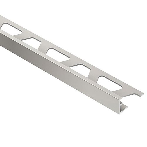 Jolly Satin Nickel Anodized Aluminum 3/8-inch x 8 ft. 2-1/2-inch Metal Tile Edging Trim