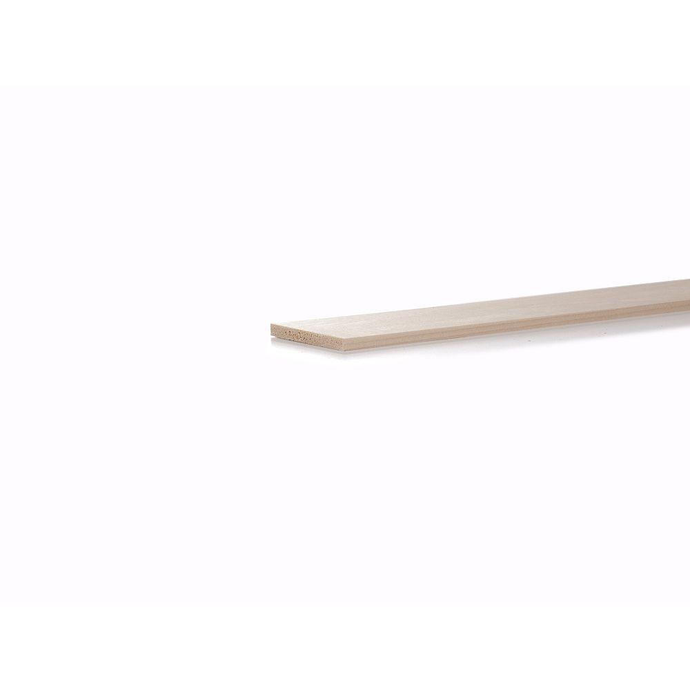 Alexandria Moulding Peuplier Artisanat S4F 1/4x3x4 Pi