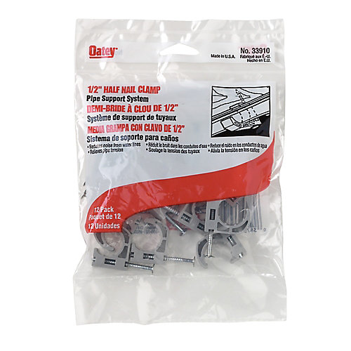 1/2-inch Pipe Clamp Half Nail (12-Pack)