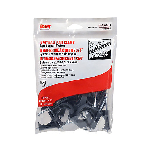 3/4 ft. Pipe Clamp Half Nail (12-Pack)