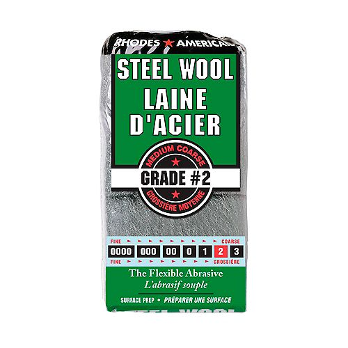 Steel Wool #2, - Medium Coarse, 12 Pad Steel Wool-10121157