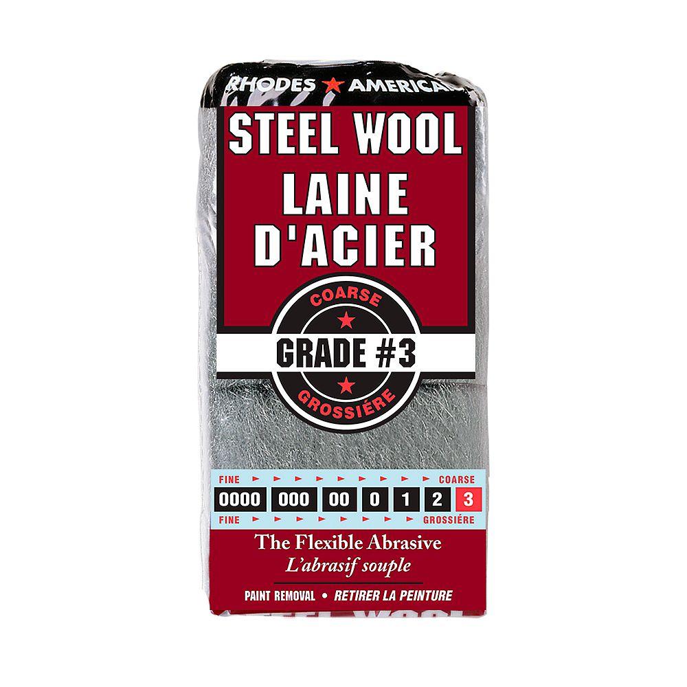 Homax Steel Wool #3, Coarse, 12 Pad Steel Wool-10121158